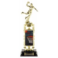 "13"" BASKETBALL MALE LENTICULAR ACTOMIC TROPHY"
