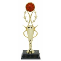 "13"" BASKETBALL SPIRAL CUP TROPHY"