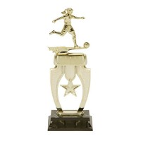 "13"" FEMALE SOCCER STAR RISER TROPHY"
