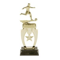 "13"" MALE SOCCER STAR RISER TROPHY"
