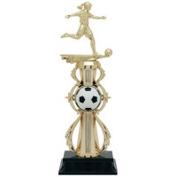 "13"" SOCCER  FEMALE COLOR SPORT TROPHY"
