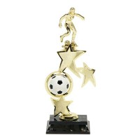 "13"" SOCCER FEMALE SPIN STAR TROPHY"