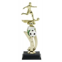 "13"" SOCCER MALE COLOR SCENE TROPHY"