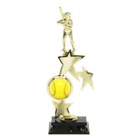 "13"" SOFTBALL SPIN STAR TROPHY"