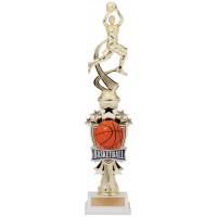 "14"" BASKETBALL FEMALE MOTION TROPHY"