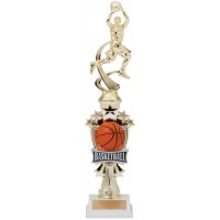 "14"" BASKETBALL MALE MOTION TROPHY"