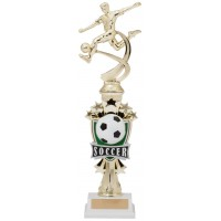 "14"" SOCCER MALE MOTION TROPHY"