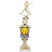 "14"" SOFTBALL MOTION TROPHY"