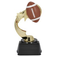 "7"" FOOTBALL RIBBON STAR TROPHY"