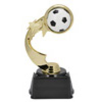 "7"" SOCCER RIBBON STAR TROPHY"