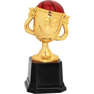 """6"""" Basketball Happy Cup Trophy"""